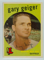 1959 Topps Baseball 521 Gary Geiger High Number Boston Red Sox Very Good to Excellent