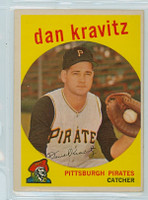 1959 Topps Baseball 536 Dan Kravitz High Number Pittsburgh Pirates Very Good