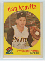 1959 Topps Baseball 536 Dan Kravitz High Number Pittsburgh Pirates Very Good to Excellent