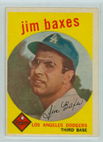 1959 Topps Baseball 547 Jim Baxes High Number Los Angeles Dodgers Very Good to Excellent