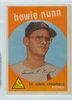 1959 Topps Baseball 549 Howie Nunn High Number St. Louis Cardinals Very Good to Excellent