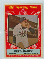 1959 Topps Baseball 551 Fred Haney AS High Number Milwaukee Braves Very Good