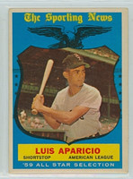 1959 Topps Baseball 560 Luis Aparicio AS High Number Chicago White Sox Very Good to Excellent