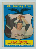 1959 Topps Baseball 572 Billy Pierce AS High Number Chicago White Sox Very Good to Excellent