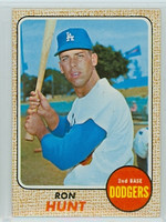 1968 Topps Baseball 15 Ron Hunt Los Angeles Dodgers Near-Mint Plus