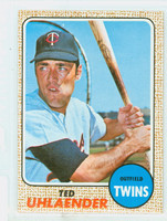 1968 Topps Baseball 28 Ted Uhlaender Minnesota Twins Near-Mint