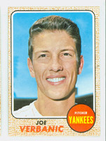 1968 Topps Baseball 29 Joe Verbanic New York Yankees Near-Mint