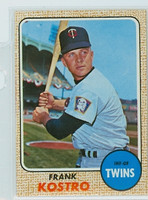 1968 Topps Baseball 44 Frank Kostro Minnesota Twins Near-Mint Plus