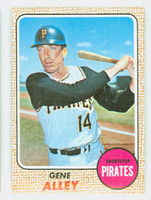 1968 Topps Baseball 53 Gene Alley Pittsburgh Pirates Near-Mint to Mint