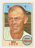 1968 Topps Baseball 59 Don Lock Philadelphia Phillies Near-Mint