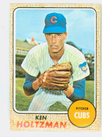 1968 Topps Baseball 60 Ken Holtzman Chicago Cubs Near-Mint Plus