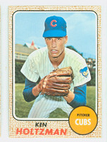 1968 Topps Baseball 60 Ken Holtzman Chicago Cubs Near-Mint to Mint