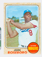 1968 Topps Baseball 65 John Roseboro Los Angeles Dodgers Near-Mint