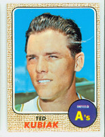 1968 Topps Baseball 79 Ted Kubiak Oakland Athletics Near-Mint Plus