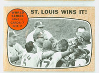 1968 Topps Baseball 157 World Series 7 Excellent