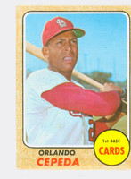 1968 Topps Baseball 200 Orlando Cepeda St. Louis Cardinals Good to Very Good