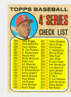 1968 Topps Baseball 278 Checklist Four Excellent to Mint