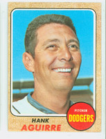 1968 Topps Baseball 553 Hank Aguirre High Number Los Angeles Dodgers Excellent to Excellent Plus