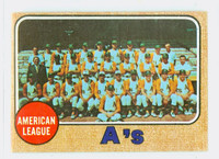 1968 Topps Baseball 554 A's Team High Number Oakland Athletics Excellent to Mint