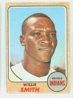 1968 Topps Baseball 568 Willie Smith High Number Cleveland Indians Excellent to Mint