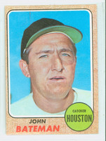 1968 Topps Baseball 592 John Bateman High Number Houston Astros Excellent to Excellent Plus
