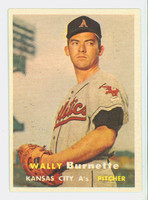1957 Topps Baseball 13 Wally Burnette Kansas City Athletics Very Good to Excellent