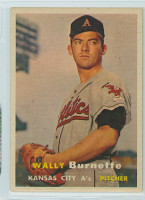 1957 Topps Baseball 13 Wally Burnette Kansas City Athletics Excellent