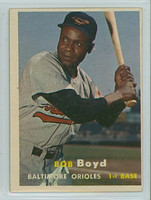1957 Topps Baseball 26 Bob Boyd Baltimore Orioles Very Good to Excellent