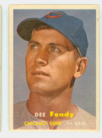 1957 Topps Baseball 42 Dee Fondy Chicago Cubs Very Good