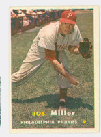 1957 Topps Baseball 46 Bob J Miller Philadelphia Phillies Excellent