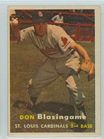 1957 Topps Baseball 47 Don Blasingame St. Louis Cardinals Excellent to Excellent Plus
