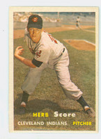 1957 Topps Baseball 50 Herb Score Cleveland Indians Very Good to Excellent