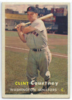 1957 Topps Baseball 51 Clint Courtney Washington Senators Excellent