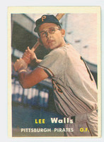 1957 Topps Baseball 52 Lee Walls Pittsburgh Pirates Very Good