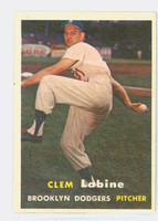 1957 Topps Baseball 53 Clem Labine Brooklyn Dodgers Very Good to Excellent
