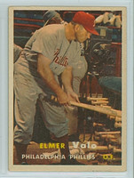 1957 Topps Baseball 54 Elmer Valo Philadelphia Phillies Very Good to Excellent