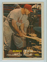 1957 Topps Baseball 54 Elmer Valo Philadelphia Phillies Excellent