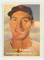 1957 Topps Baseball 57 Jim Lemon Washington Senators Very Good