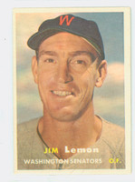 1957 Topps Baseball 57 Jim Lemon Washington Senators Excellent to Mint
