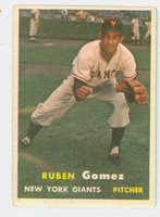 1957 Topps Baseball 58 Ruben Gomez New York Giants Very Good