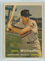 1957 Topps Baseball 59 Dick Williams Baltimore Orioles Very Good to Excellent