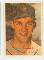 1957 Topps Baseball 60 Billy Hoeft Detroit Tigers Very Good
