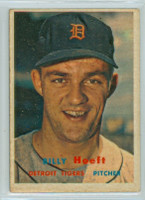 1957 Topps Baseball 60 Billy Hoeft Detroit Tigers Very Good to Excellent