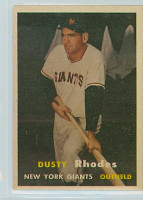 1957 Topps Baseball 61 Dusty Rhodes New York Giants Excellent to Mint