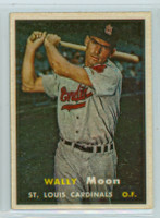 1957 Topps Baseball 65 Wally Moon St. Louis Cardinals Excellent to Mint