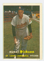 1957 Topps Baseball 71 Murry Dickson St. Louis Cardinals Very Good