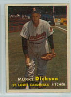 1957 Topps Baseball 71 Murry Dickson St. Louis Cardinals Excellent to Mint