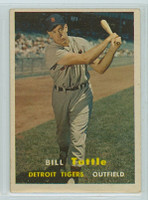 1957 Topps Baseball 72 Bill Tuttle Detroit Tigers Very Good to Excellent