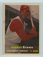 1957 Topps Baseball 73 George Crowe Cincinnati Reds Near-Mint