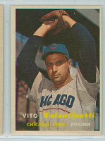 1957 Topps Baseball 74 Vito Valentinetti
